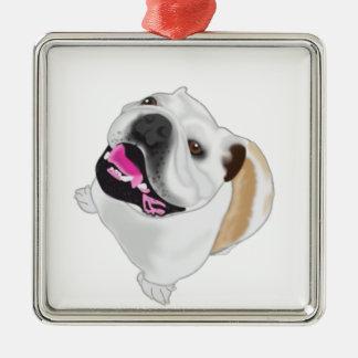 Grace Mertes Bulldog Wyatt Metal Ornament