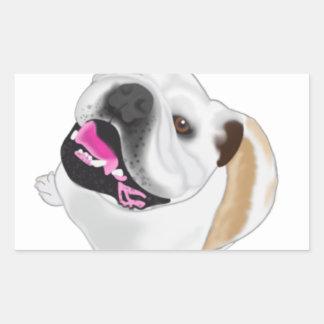 Grace Mertes Bulldog Wyatt Rectangular Sticker