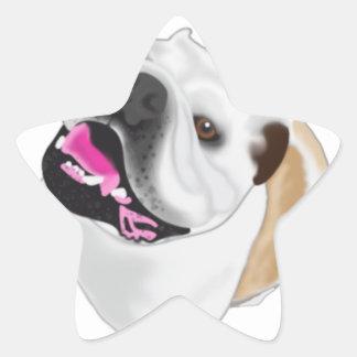 Grace Mertes Bulldog Wyatt Star Sticker