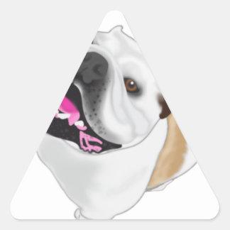 Grace Mertes Bulldog Wyatt Triangle Sticker