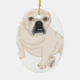 Grace Mertes Rescued Bulldogs Ceramic Ornament