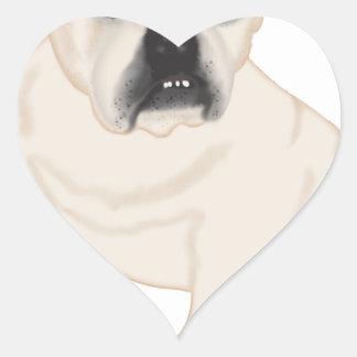Grace Mertes Rescued Bulldogs Heart Sticker