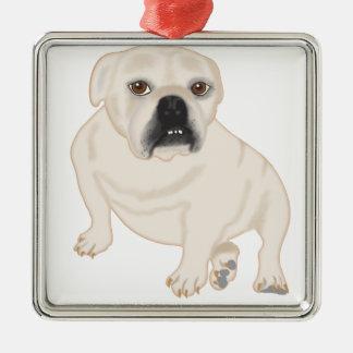 Grace Mertes Rescued Bulldogs Metal Ornament