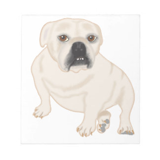 Grace Mertes Rescued Bulldogs Notepad
