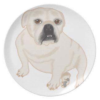 Grace Mertes Rescued Bulldogs Dinner Plate