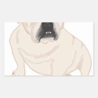 Grace Mertes Rescued Bulldogs Rectangular Sticker
