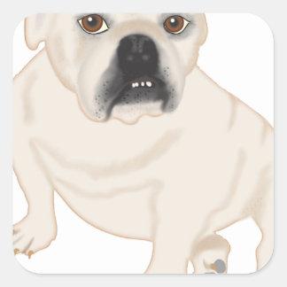 Grace Mertes Rescued Bulldogs Square Sticker