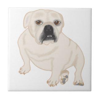 Grace Mertes Rescued Bulldogs Ceramic Tile