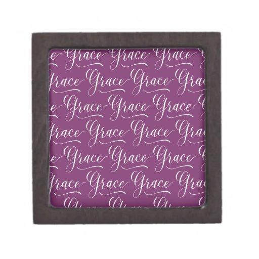 Grace modern calligraphy name design premium keepsake