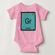 Grace  Name Chemistry Element Periodic Table Baby Bodysuit