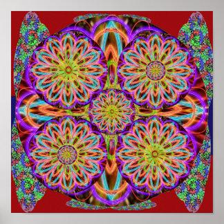 Grace of HOLY PURPLE : Sunflower Mandala Poster