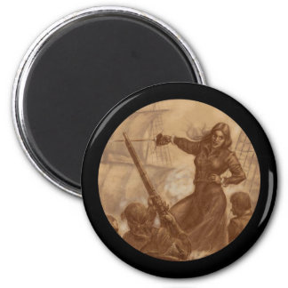 Grace O'Malley Pirate Queen 2 Inch Round Magnet