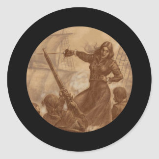 Grace O'Malley Pirate Queen Classic Round Sticker