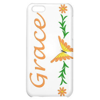Grace (Orange Butterfly) Cover For iPhone 5C