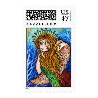 """Grace"" Primitive Angel Christmas Stamps"