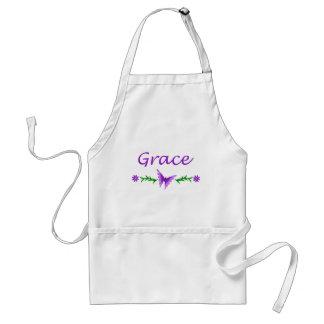 Grace Purple Butterfly Apron