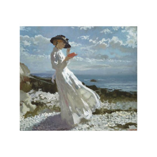 Grace Reading at Howth Bay Orpen Canvas Print