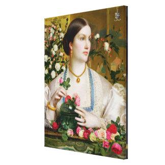 Grace Rose, 1866 (oil on panel) Canvas Prints