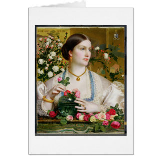 Grace Rose, 1866 (oil on panel) Greeting Card