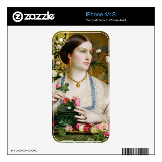 Grace Rose, 1866 (oil on panel) Decal For The iPhone 4S