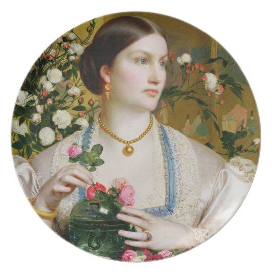 Grace Rose, 1866 (oil on panel) Melamine Plate