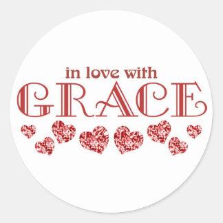 Grace Round Sticker