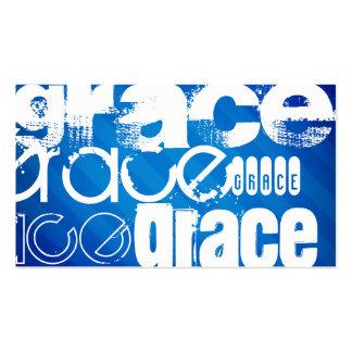 Grace; Royal Blue Stripes Business Card