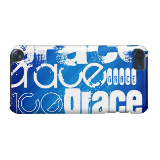 Grace; Royal Blue Stripes iPod Touch 5G Covers