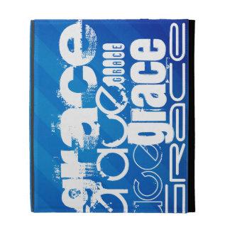 Grace; Royal Blue Stripes iPad Cases