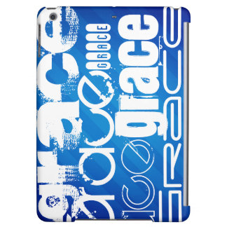 Grace; Royal Blue Stripes Case For iPad Air