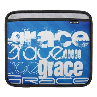 Grace; Royal Blue Stripes iPad Sleeve