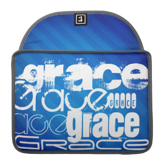 Grace; Royal Blue Stripes MacBook Pro Sleeve