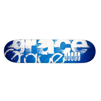 Grace; Royal Blue Stripes Skate Deck