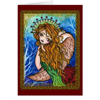 """""""Grace"""" Scripture Primitive Angel Christmas Card"""
