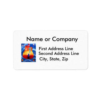 Grace spray painting man under cross custom address label