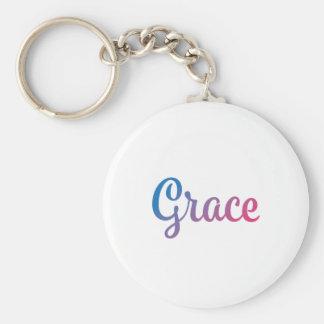 Grace Stylish Cursive Keychain