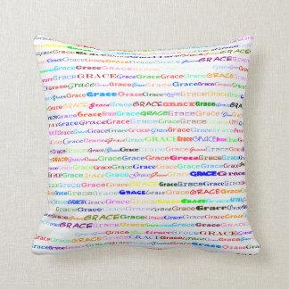 Grace Text Design II Throw Pillow