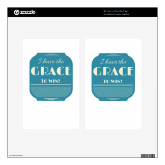 Grace to win kindle fire decals