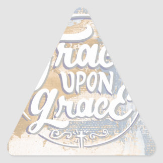 Grace upon Grace Triangle Sticker