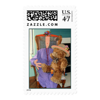 Grace with Her Teddy Bear Stamp