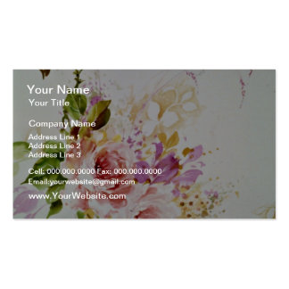 Grace Yellow flowers Double-Sided Standard Business Cards (Pack Of 100)