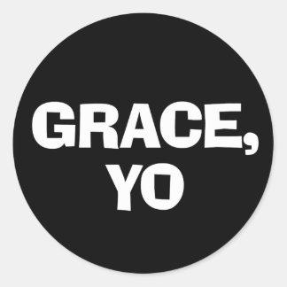 Grace Yo Classic Round Sticker