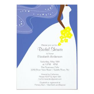 Graceful African American Bride Bridal Shower 5x7 Paper Invitation Card