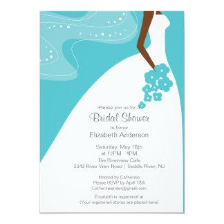 Graceful African American Bride Bridal Shower Card