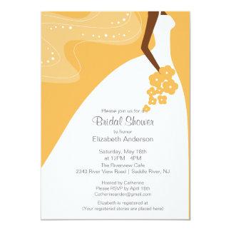 graceful african american bride bridal shower card - African American Wedding Invitations