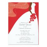 Graceful African American Bride Bridal Shower Custom Announcement