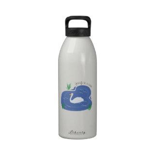 Graceful As Swan Reusable Water Bottle