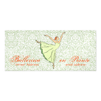"Graceful Ballerina 4""x9"" Magnetic Card"