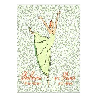 "Graceful Ballerina 7""x5"" Magnetic Card"