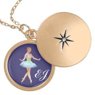 Graceful Ballerina Customizable Monogram Custom Jewelry